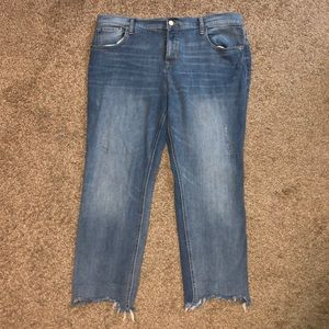 Old navy boyfriend straight cropped jeans size 14